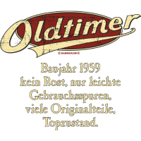Geburtstag Oldtimer Baujahr 1959 retro usedlook