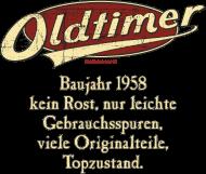 Jahrgang 1950 Geburtstagsshirt: Geburtstag Oldtimer Baujahr 1958 retro usedlook