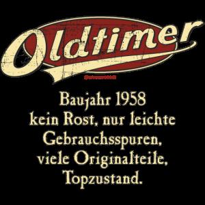 Geburtstag Oldtimer Baujahr 1958 retro usedlook