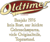 Jahrgang 1970 Geburtstagsshirt: Geburtstag Oldtimer Baujahr 1976 retro usedlook