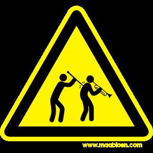 Gefahrenschild Klarinette