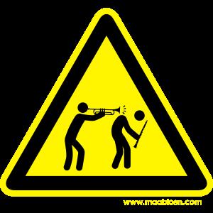 Gefahrenschild Trompete