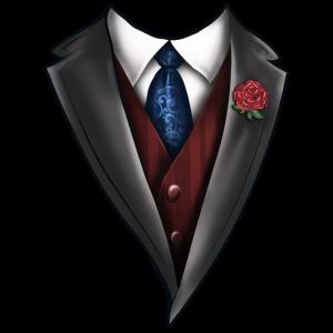 Tuxedo Tie Designs Tie blue
