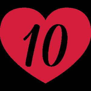 10. Geburtstag Herz