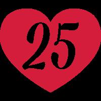25. Geburtstag Herz
