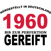 Geburtstag Jahrgang-Shirt 1960
