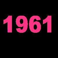 Geburtstag Jahrgang-Shirt 1961