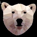 Eisbär Kopf Polygon