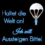 Fallschirm Spruch blau