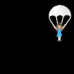 Fallschirm Spruch schwarz