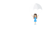 Fallschirm Spruch weiß