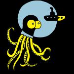 Tintenfisch trifft Uboot, Meer, tauchen, Boot