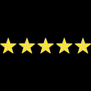 5-sterne in 3D - Symbol, Vorlage
