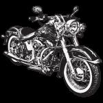 chopper hog bike motorrad