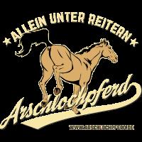 Arschlochpferd allein unter Reitern Blog Szene