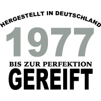 Geburtstag Jahrgang-Shirt 1977