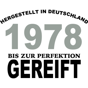 Geburtstag Jahrgang-Shirt 1978