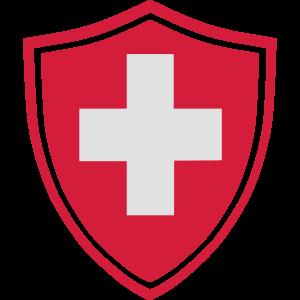 Schweiz Kreuz Button - original