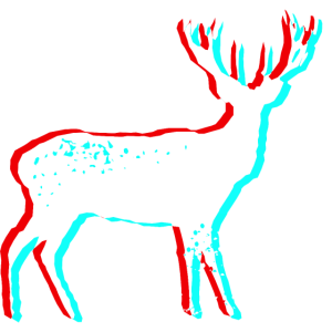 Hirsch 3D - weiß