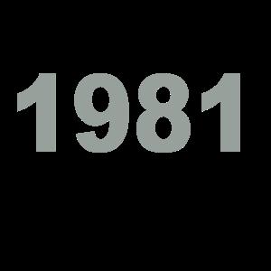 Geburtstag Jahrgang-Shirt 1981