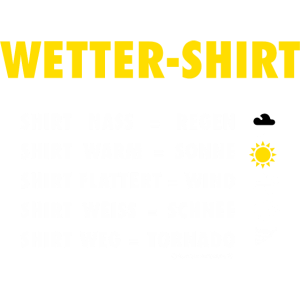 Das Wettershirt von RAHMENLOS Design