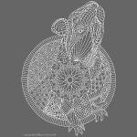 Rat doodle tangle white