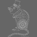 Steampunk rat white