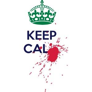 Blood spot Keep Calm horror