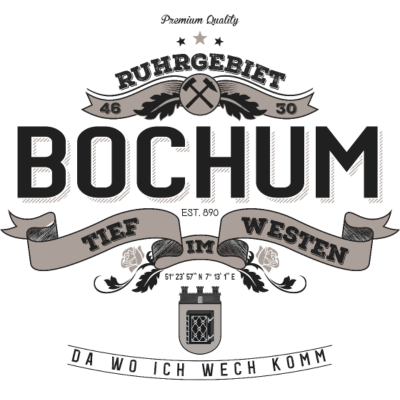 Premium Quality Bochum - Vintage Logo Bochum  - Ruhrpott,Ruhrgebiet,Revier,Pott,Heimat,Bochum