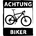 MTB Achtung Biker 1F - einfarbig