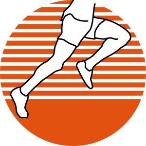 Läufer seitlich zweifärbig runner running