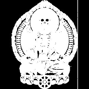 Skeletton Buddha White