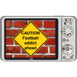 Caution sign - Football