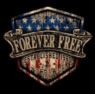 Jahrgang 1980 Geburtstagsshirt: Rahmenlos Foreverfree 1980 Jahrgang Geschenk