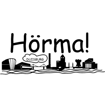 Hörma -Skyline Duisburg - fotolulu collection design  Die Skyline von Duisburg mit dem Stadtwerketurm in der Mitte, dem eigentlichen Wahrzeichen von Duisburg. Hörma, ein typischer Satzbeginn im Ruhrgebiet. - lustig,fotolulu,Sprüche,Skyline Duisburg,Duisburg