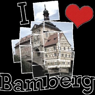 I Love  Bamberg - I Love  Bamberg - stadt,schwarz,lieben,ich,i,herz,heart,deutschland,city,Weltkulturerbe,Weiß,Liebe,Franken,Bayern,Bamberg