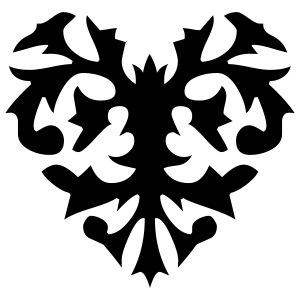 Cool heart pattern design