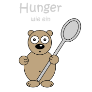 Hunger wie ein Bär Shirtdesign Spreadshirt © cso-munich.de