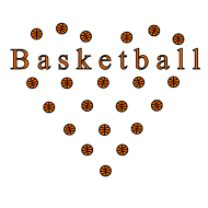 Basketball Herz Shirtdesign Spreadshirt © cso-munich.de