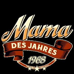 Mama des Jahres Jahrgang 1968 RAHMENLOS Geschenk