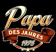 Jahrgang 1970 Geburtstagsshirt: Papa des Jahres Jahrgang 1975 RAHMENLOS Geschenk