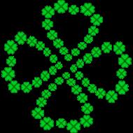 Glücksklee grün gefüllt Shirtdesign Spreadshirt © cso-munich.de