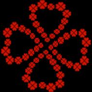 Glücksklee rot gefüllt Shirtdesign Spreadshirt © cso-munich.de