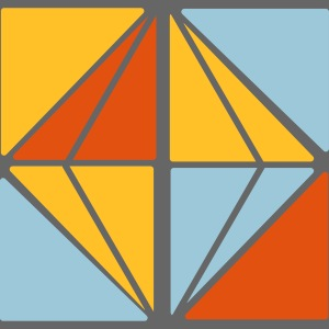 Graphic vierkant diamant
