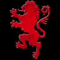 Wappen Loewe rot