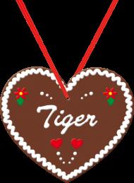 """Oktoberfest & Wiesn Shirt: Lebkuchenherz """"Tiger"""""""