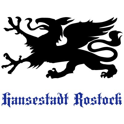 HRO Greif Font - Der Rostocker Greif mit einer in oldenglish gesetzten Type. - löwe,hro,greif,derMausmeister,Wappen,Rostock,Hansestadt,Greifvogel