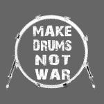 Make drums not war white