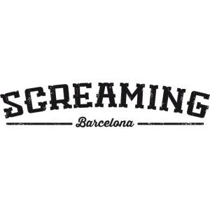 SCREAMING TEXT BASEBALL