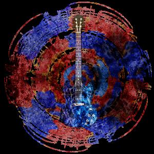 Gitarre mit Noten